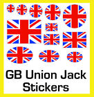 Union Jack Stickers Labels Circles Rectangles Ovals - 12 Sizes - 4 Pack Sizes