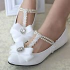 Princess Elegant Pearl Across Top Wedding Pearl Party Evening Women shoes