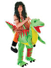 New Adult Novelty Step In Ride On Halloween Fancy Dress Dinosaur Costume Outfit