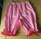 Candy pink and white striped short legged bloomers
