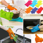 2pcs Kitchen Heat Resistant Silicone Gloves Pot Holders Baking BBQ Cooking Mitts