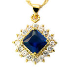 Fashion Jewelry Yellow Gold Tone Swarovski Elements Pendant Necklace For Dress