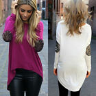 Women Summer Loose Casual Long Sleeve Sexy Shirt Tops Blouse Ladies Tee Top
