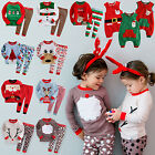 "Vaenait Baby Toddler Girl Boy Clothes Santa Christmas Sleepwear Set""Merry X-Mas"""