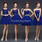 Royal Blue Lady Girl Evening Formal Party Ball Gown Prom Bridesmaids Short Dress