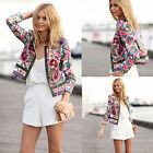 Fahion Women Floral Outwear Blazer Cardigan Autumn Thin Coat Jacket Blouse Tops