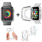 For APPLE iWATCH - CLEAR SILICONE GEL CASE COVER + TEMPERED SCREEN PROTECTOR