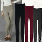 Ladies Women Girls Ribbed Knit Skinny Stretch and Soft Leggings Jeggings UK 8-14