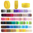 1 Rollo 6/10/15/20/25/38mm Ribbon Grosgrain Craft Wedding Decor 6-38mm Lots DIY