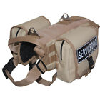 Service Dog Harness Velcro Patches & Side Bags TACTICAL Military Army Dog Vest