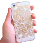 White Carved Transparent Pattern Hard Case Cover For iPhone 5  Крышка корпу New