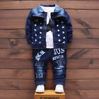 3PC Baby Clothes Outfit Boy Outfits Boys Infant Toddler Coat + T-shirt + Pants