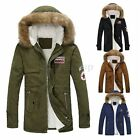 Stylish Mens Warm Fur Collar Hooded Parka Winter Thick Down Coat Outwear Jacket