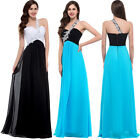 NEW 1 Shoulder Formal Evening Gown WEDDING Bridesmaid graduation PROM Dress Long