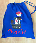 PERSONALISED BOYS PIRATE PE GYM  NURSERY GYM SCHOOL DRAWSTRING COTTON BAG