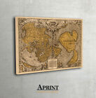 Antique wall map of the World Fine Art archival print - Interior decor