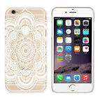 Fashion Mandala Pattern Flower White Hard Case Skin Cover For iphone 6s 4.7 Inch