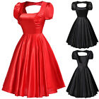 Retro Rockabilly 1950s 1960s Vintage Style Swing Pinup Circle Dress Plus Size