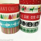 Christmas Washi Tape roll Scrapbook DIY craft Paper Sticky Adhesive Sticker $2.6 USD on eBay