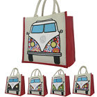 Volkswagen Bag Eco Re Use Bag For Life Jute Campervan Shopper NEW Carrier