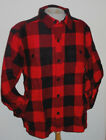 NWT Men's Woolrich Wool Stag Jacket Red Plaid Washable Wool sizes 2XL & 3XL