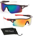 POLARIZED Fashion Men Women Wrap Sport Sunglasses Fire Revo Color Mirror Lens
