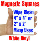 FLEXIBLE MAGNECTIC LABELS WITH GLOSS WHITE DRY WIPE SURF, 50mm , 100mm