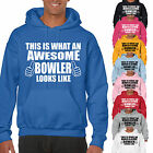 THIS IS WHAT AN AWESOME BOWLER LOOKS LIKE ADULT HOODIE - Bowling or Cricket