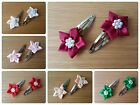 L@@K! Cute Girls Hair Bendies/Sleepies/Snap Clips with Star Flower Detail