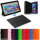Leather Case Cover w/ Wireless Bluetooth keyboard for Microsoft Surface 3/Pro 3