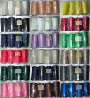 5000m Polyester Overlocker & Sewing Machine Thread Choice Colours Best Quality