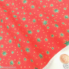 Red & green striking star Christmas fabric 100 % cotton per 1/2 mtr or per FQ