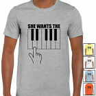 grabmybits - She Wants The D Funny T Shirt - Gift Music Musician Top Tee