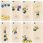 Cartoon Minions Decorative Ornament Soft TPU Case Cover For iPhone 6s 6s Plus