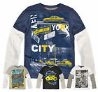 Boys Long Sleeved T Shirt New Kids Cotton Rich Graphic Print Top Ages 2-13 Years