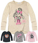 Girls Long Sleeved Printed T Shirt New Childrens Tops 100% Cotton  Age 2-6 Years