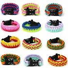 Paracord Outdoor Bush Survival Bracelet Wristband Camping Caving Cord Outdoor