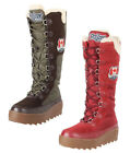 Pajar Women's Greenland Winter Snow Boots - Green & Red