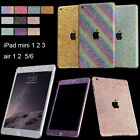 Beauty Glitter Bling Full Body Decals Sticker Protect case for iPad 5 6 mini 2 3