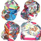 Official Comic Print Snapback Caps Flat Peak Fitted Baseball Kids Hats 52-56cm