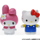 JAPAN TAKARA TOMY WINDUP FIGURE-MOVIN HELLO KITTY /MY MELODY CLOCKWORK DOLL