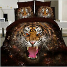 Luxury 3D Bedding Doona Duvet Cover Set And 2 Pillowcases Or Flat Double Size
