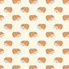 HEDGEHOGS ON CREAM - NATURE TRAIL by DASHWOOD 100% COTTON FABRIC hedgehog