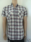 Mens Republic Crafted Check Shirt Cotton Short Sleeve R.R.P 24.99
