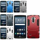 Hybrid Armor Heavy Duty Dual Layer Hard Rugged Stand Case For LG G Stylo LS770