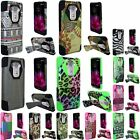 For LG G Flex 2 Phone Armor Rugged Hybrid Rubber Hard Cover Case with Kickstand