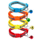12pcs Reflective Puppy Dog Cat Kitten Collars with Bell for Small Dogs Wholesale