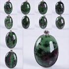 41-60mm Green ruby zoisite oval pendant
