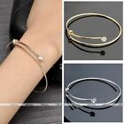Fashion Thin Simple Crystal Wire Line Cuff Bracelet Bangle Adjustable Jewelry