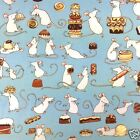 "per 1/2 metre/fat quarter 100 % cotton Chocoholic mice 44"" wide by  clothworks"